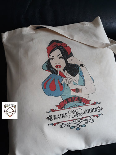 Tote Bag Blanche neige.1 - 38 x 42 cm