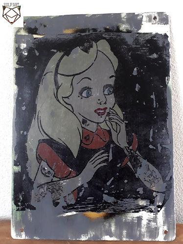 Plaque de décoration en métal Alice.2
