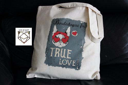 Tote Bag Bouledogue Fr 16 - 38 x 42 cm
