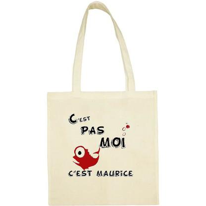 Tote bag coton C'est pas moi, c'est Maurice