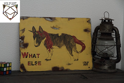 Plaque de décoration en métal Bull Terrier What Else
