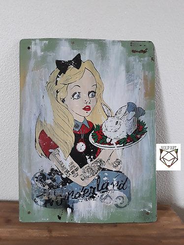 Plaque de décoration en métal Alice.6