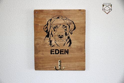 Accroche laisses/colliers mural Labrador/golden 8