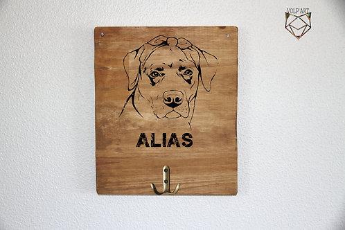 Accroche laisses/colliers mural Labrador/golden 2