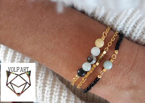 Bracelet double amazonite - réf. b08