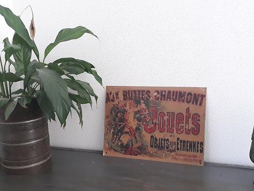 Plaque de décoration en métal Buttes chaumont