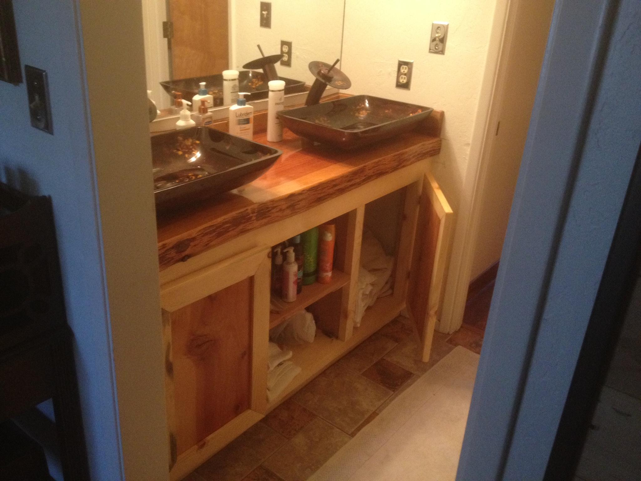 vanity cedar top