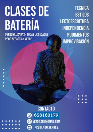 Clases de bateria con Sebastián Verde