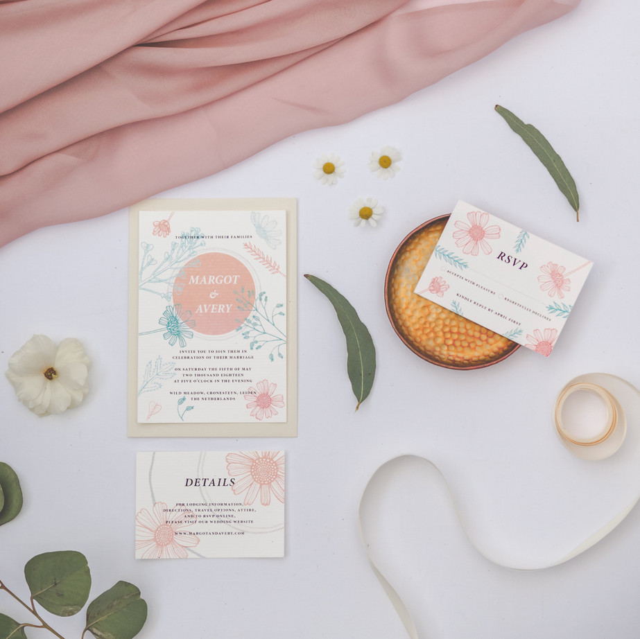 Wedding invitations and seating cards