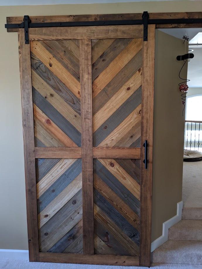 Chevron Barn Door