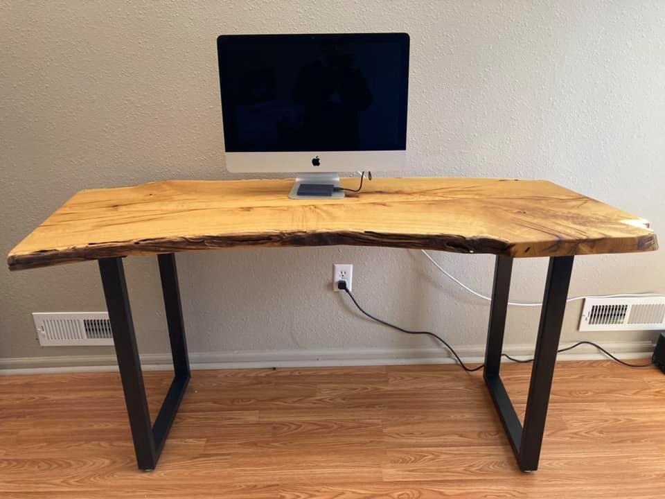 Live edge desk
