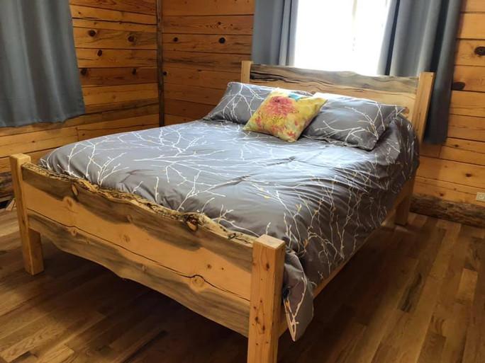 Beetle kill pine bed