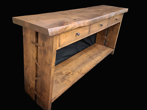 Sideboard or Entry Table with Inlayed Legs
