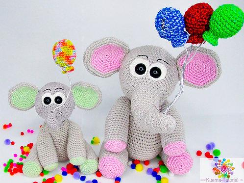 Eli der süße Elefant - DE| NL Häkelanleitung
