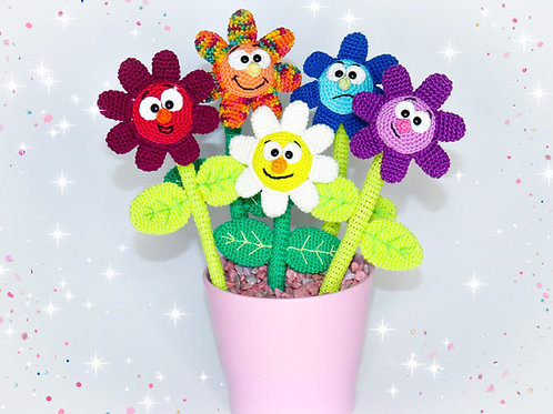 Lustiger Blumenstrauß - Häkelanleitung DE|ENG|NL