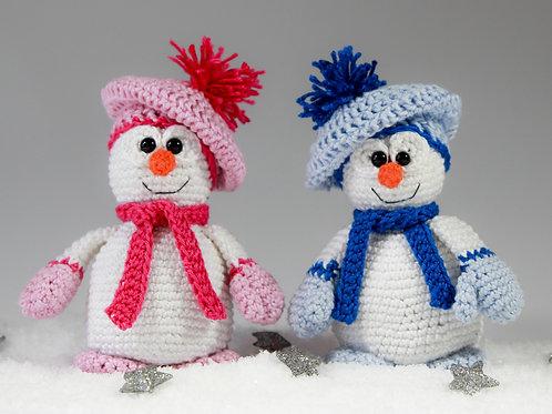 Flauschige Frosti Schneemänner - Häkelanleitung
