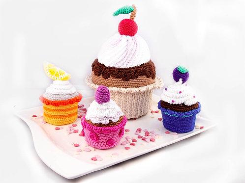 Cupcake - XXL Set - Häkelanleitung DE|NL|ENG