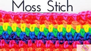 Häkeln lernen: Moss Stich Muster   Mütze Schal Decke  SUPER EINFACH