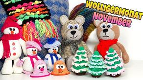 #KümaswolligerMonat 🧶 November |☃️ Schneemänner | 🐻Kuschelbären