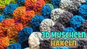 3D Muschelmuster - Häkeln   Einfaches Deckenmuster