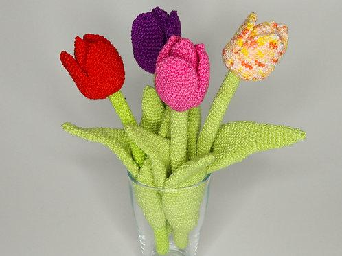 Zauberhafte Tulpen - Häkelanleitung DE NL