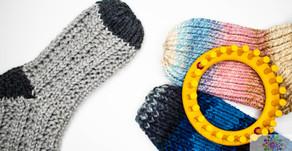 Knitting Loom Socken Stricken - Basic Teil 3 | einfache Spitze | Käppchen Spitze
