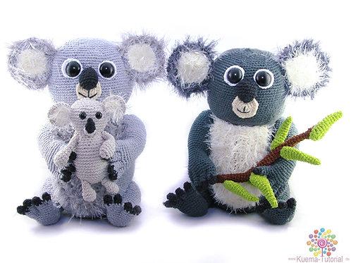 Flauschige Koalabär Familie - Häkelanleitung DE|ENG