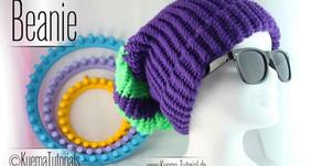 Knitting Loom / Strickring - einfacher Beanie stricken Kostenlos