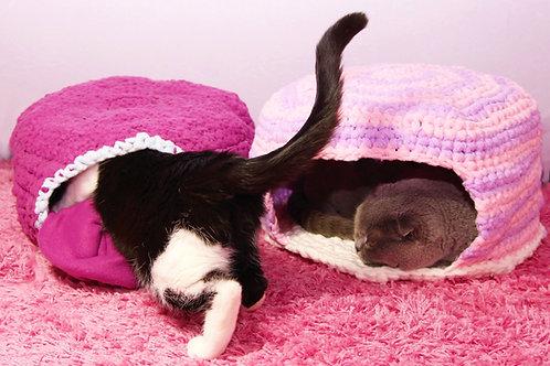 Fleece Katzen- und Hundehöhle - Häkelanleitung DE|ENG