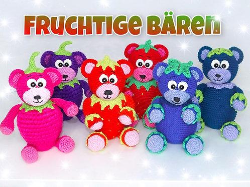 3 Fruchtige Bären Sparset - Häkelanleitung DE|NL|ENG