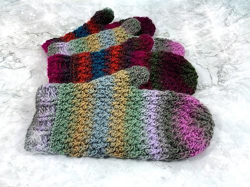 Handschuhe | Fäustlinge Kunterbunt - Häkelanleitung