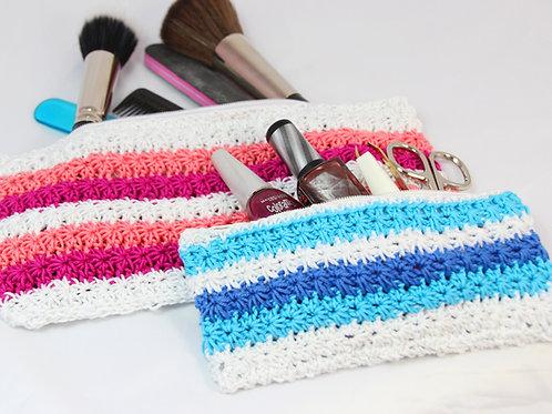 Beautytasche mit Zipper - Häkelanleitung