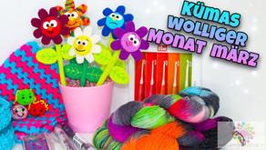 Kümas wolliger Monat März | Bunte Blumen💐| Ostern🐇 | Neue Wolle 🧶 #KümaswolligerMonat