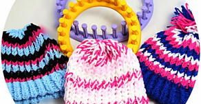 Knitting Loom / Strickring  -  Mütze Beanie stricken Kostenlos