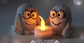 LED Geister - Häkeln | Kostenlos | Halloween