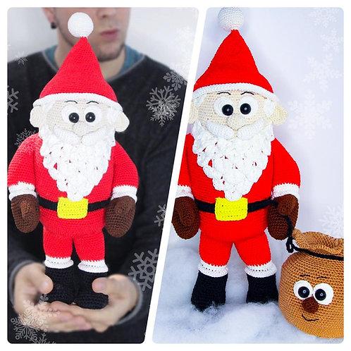 Weihnachtsklaus der großer flauschige Weihnachtsmann - Häkelanleitung| DE|ENG