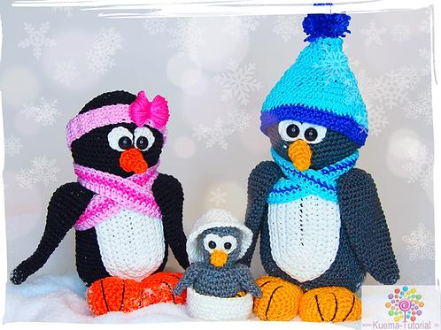 Die süße Pinguinfamilie - Häkelanleitung  DE|NL