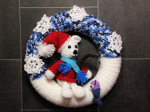 Türkranz Winter - Eisbär Knut - Häkelanleitung DE|ENG