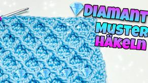 Einfacher 💎 Diamant Stich 💎-Häkeln | Deckenmuster |