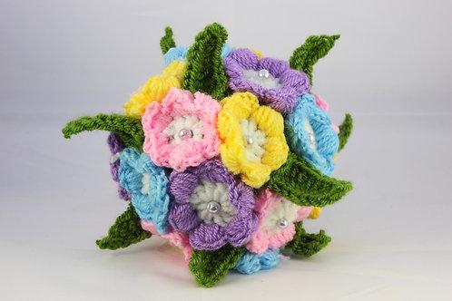 Einfache, dekorative Blumenkugel - Häkelanleitung