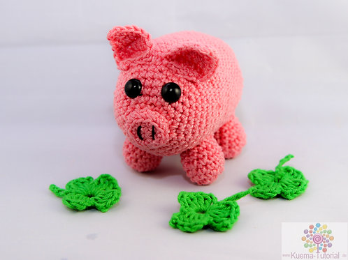 Glücksschwein Mister Porky - Häkelanleitung DE|ENG|NL