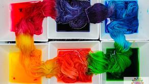 Einfach Wolle / Stränge Färben - mit Lebensmittelfarbe