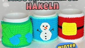 3 Tassenwärmer - Häkeln  Winter Edition Kostenlos