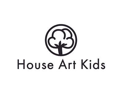 house art kids organic logo black large.