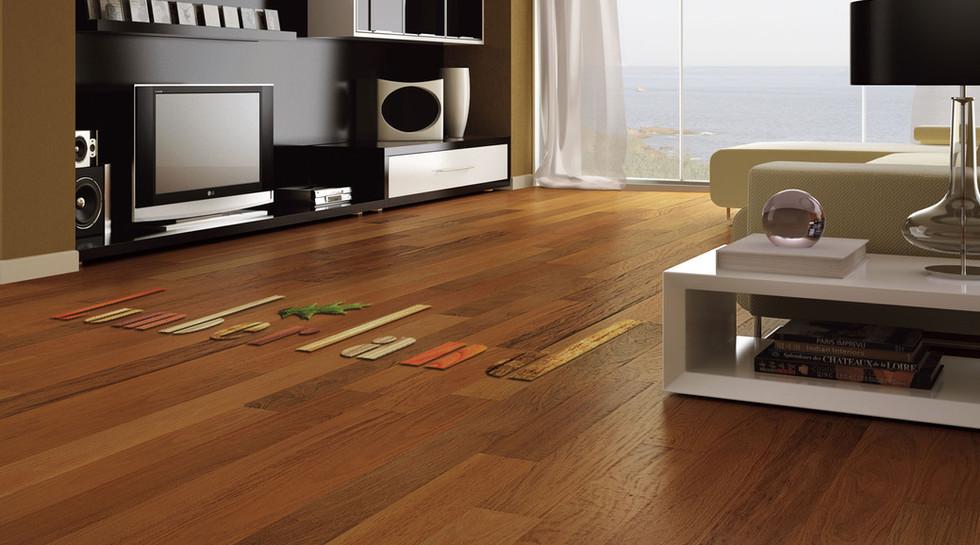 LUMBERLAND Hardwood Floor.