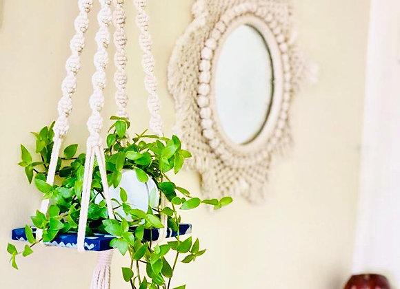 Plant hanger - Creamy Indigo