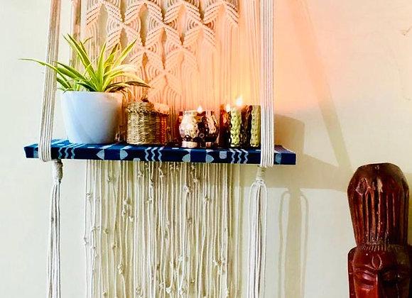 Indigo shelf