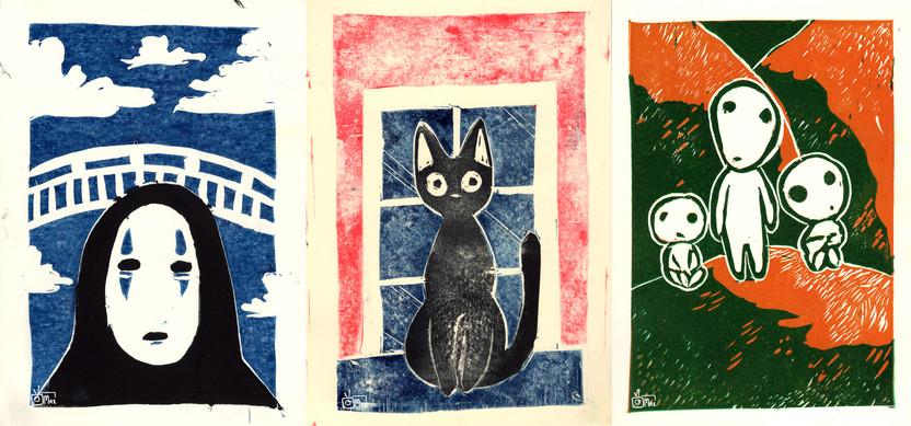 Ghibli Inspired Prints