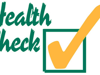 HEALTH CHECK LIST…. ARE YOU UP TO DATE?