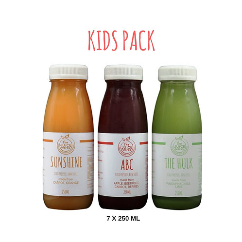 Kids pack (7 day supply)